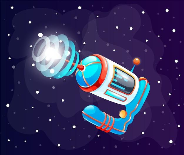 Concept van ruimtepictogram voor computerspel