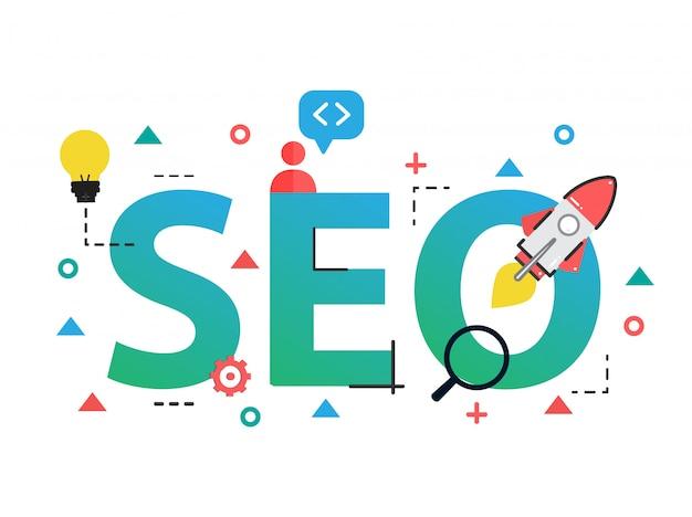 Concept van seo search engine optimization
