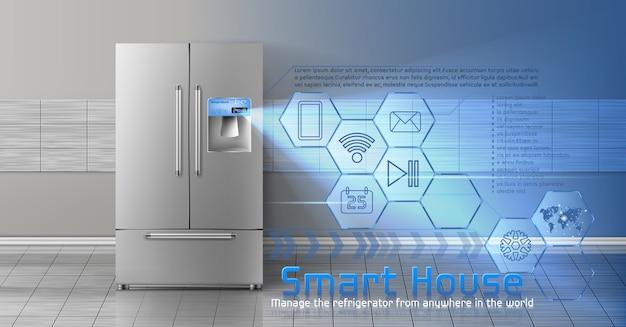 Concept van smart house, iot, draadloze digitale technologieën voor het beheren en regelen van huishoudens