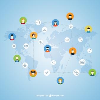 Concept van sociaal netwerk