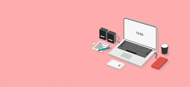 Concept van technologie kan worden gebruikt voor webbanners, infographics, afbeeldingen, afzonderlijke driedimensionale afbeeldingen
