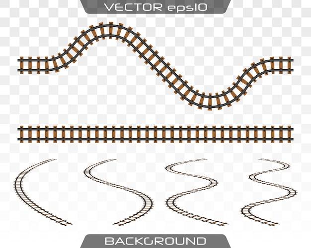 Concept van treinvervoer, metro, spoorweg.
