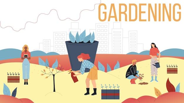 Concept van tuinieren