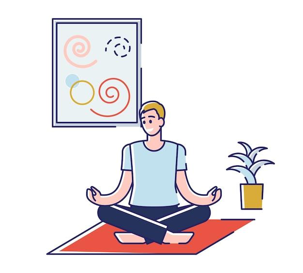 Concept van yoga en sport fitnessactiviteiten