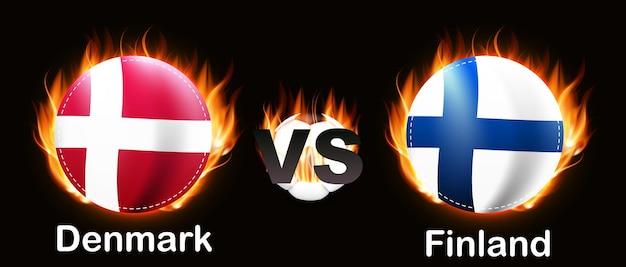 Concept voetbalwedstrijd championship 2020 rivalry 2021 denemarken en finland