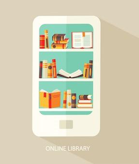 Concept voor digitale bibliotheek.