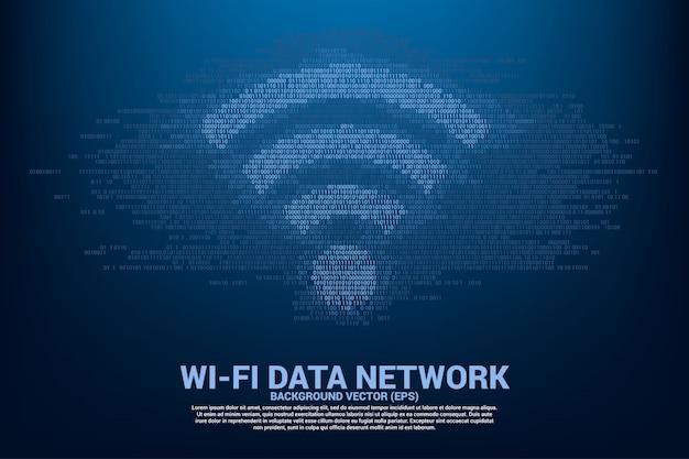 Concept voor gegevensoverdracht van mobiel en wi-fi gegevensnetwerk.