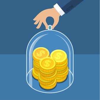 Concept voor het besparen van geld