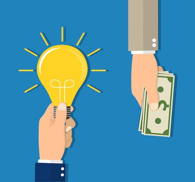 Concept voor het investeren in ideeën