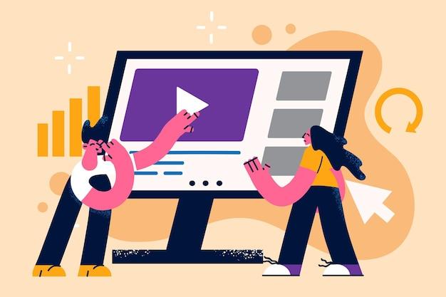 Concept voor online bedrijfspresentatie maken