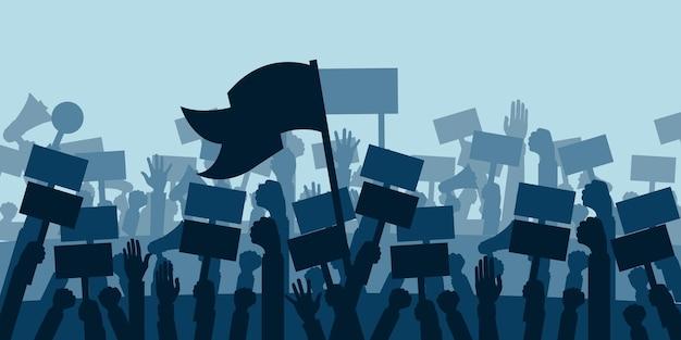 Concept voor protestrevolutie of conflict