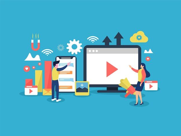 Concept voor sociale marketing