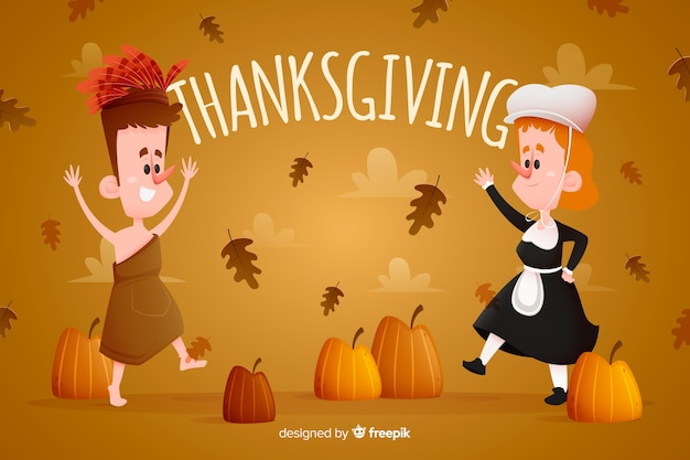 Concept voor thanksgiving day behang