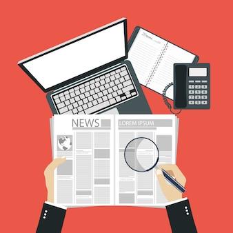Concept voor zakelijk nieuws