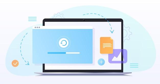 Concept webdesign website pagina-ontwikkeling het werkprocestemplate landingspagina voor website