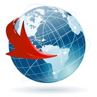 Concept - wereldwijde business