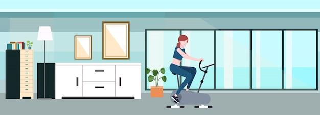 Concept werkt op oefening in huis. vector illustratie