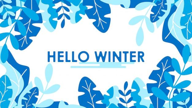 Concept winter platte ontwerp achtergrond