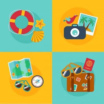 Concepten en banners van reizen, zomer