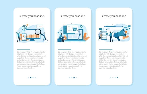 Concepten voor website sjabloon voor spandoek Premium Vector
