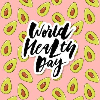 Conceptkaart - wereldgezondheidsdag groentevruchten
