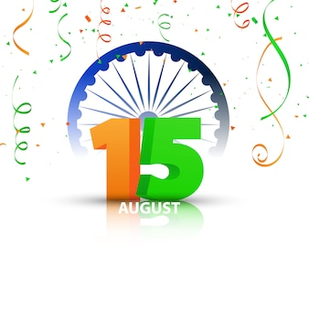 Conceptontwerp independence day india graphics. groet viering