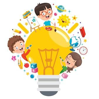 Conceptontwerp voor creatief denken