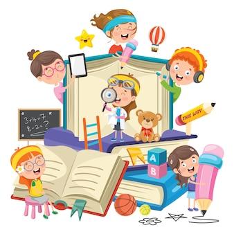 Conceptontwerp voor kinderen onderwijs