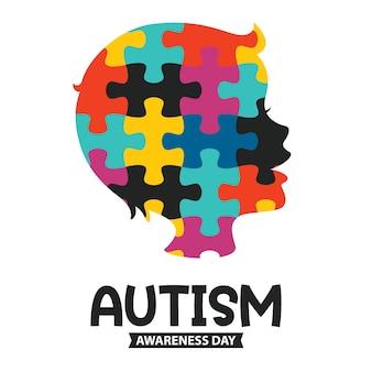 Concepttekening van autismebewustzijn