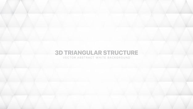 Conceptuele 3d-driehoeken witte abstracte achtergrond