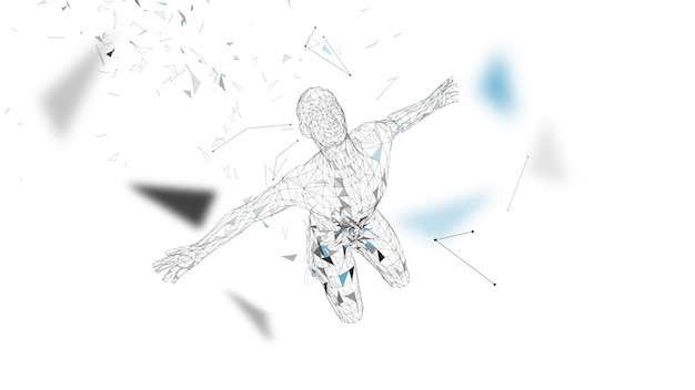 Conceptuele abstracte man.