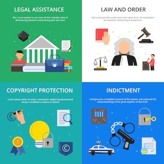 Conceptuele afbeeldingen van het strafrecht.
