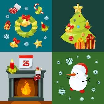 Conceptuele foto's van kerstviering