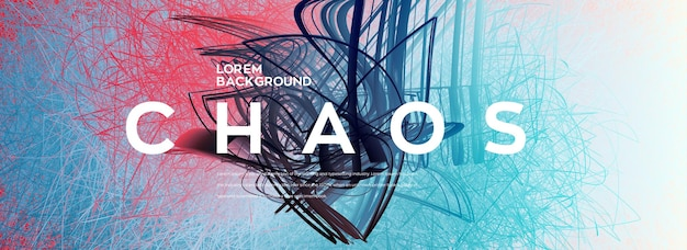 Conceptuele kleurrijke 3d chaos achtergrond
