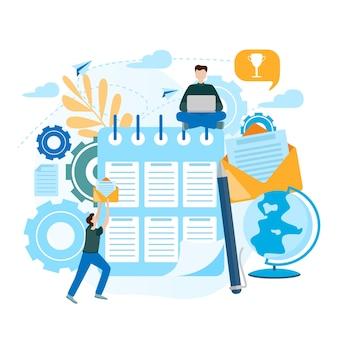 Conceptuele platte vectorillustratie checklist klembord.