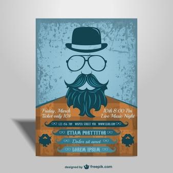 Concert mock-up hipster stijl poster