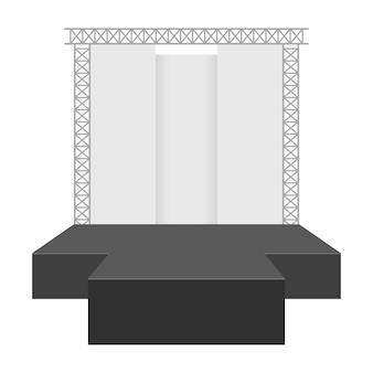 Concertpodium illustratie op witte achtergrond