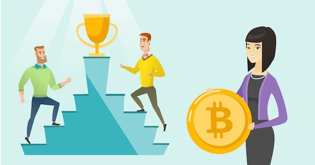 Concurrentie tussen initiële projecten voor het aanbieden van munten
