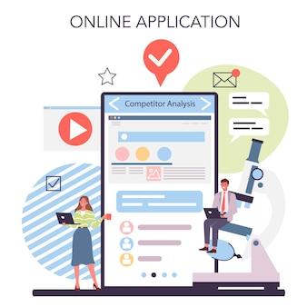 Concurrentieanalyse online service of platform