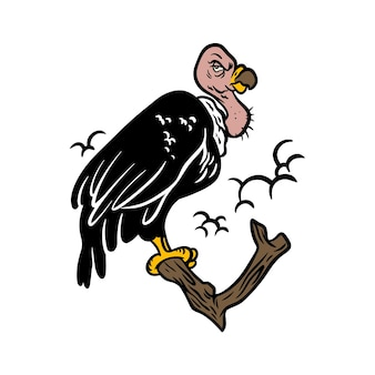 Condor bird geïsoleerd op wit