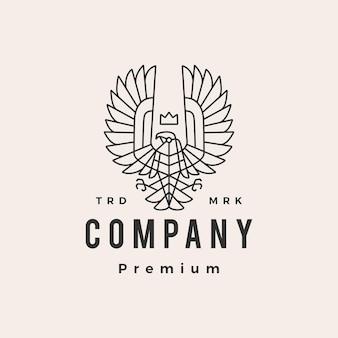 Condor koning monoline overzicht hipster vintage logo