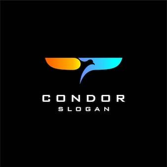 Condor-logo met eenvoudig concept