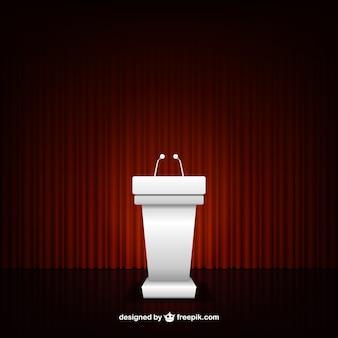 Conference podium