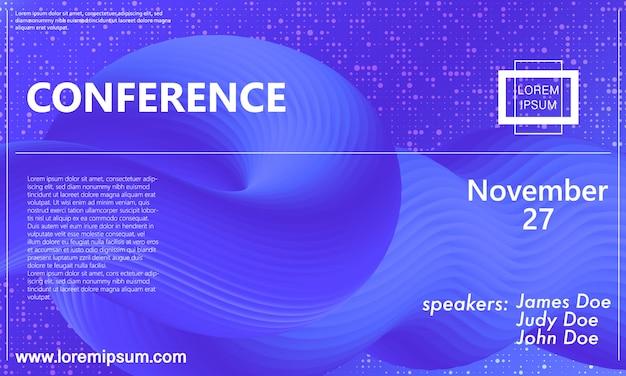 Conferentie aankondigingssjabloon