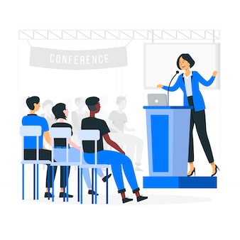 Conferentie concept illustratie