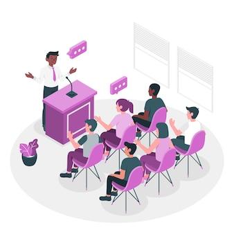 Conferentie concept illustratie