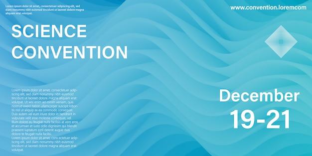 Conferentie sjabloon. wetenschapsconventie. vloeibare achtergrond. vloeistofstroom.