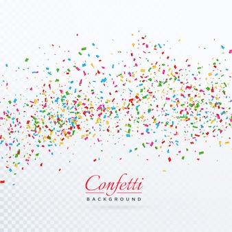 Confetti burst achtergrond sjabloonontwerp