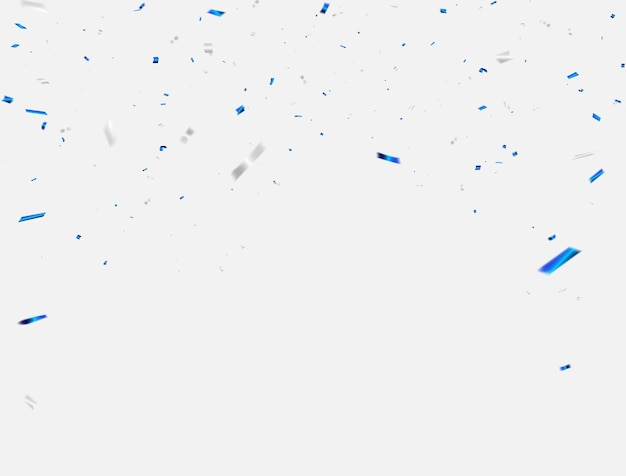 Confetti en linten viering achtergrond