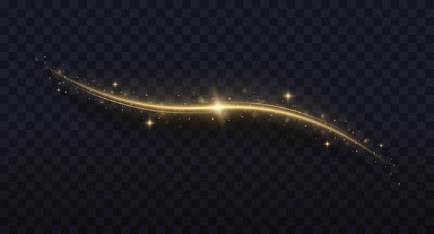 Confetti glinsterende golf sprankelende magische stofdeeltjes kerstlichteffect